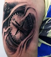 mists and compass tattoo for guys
