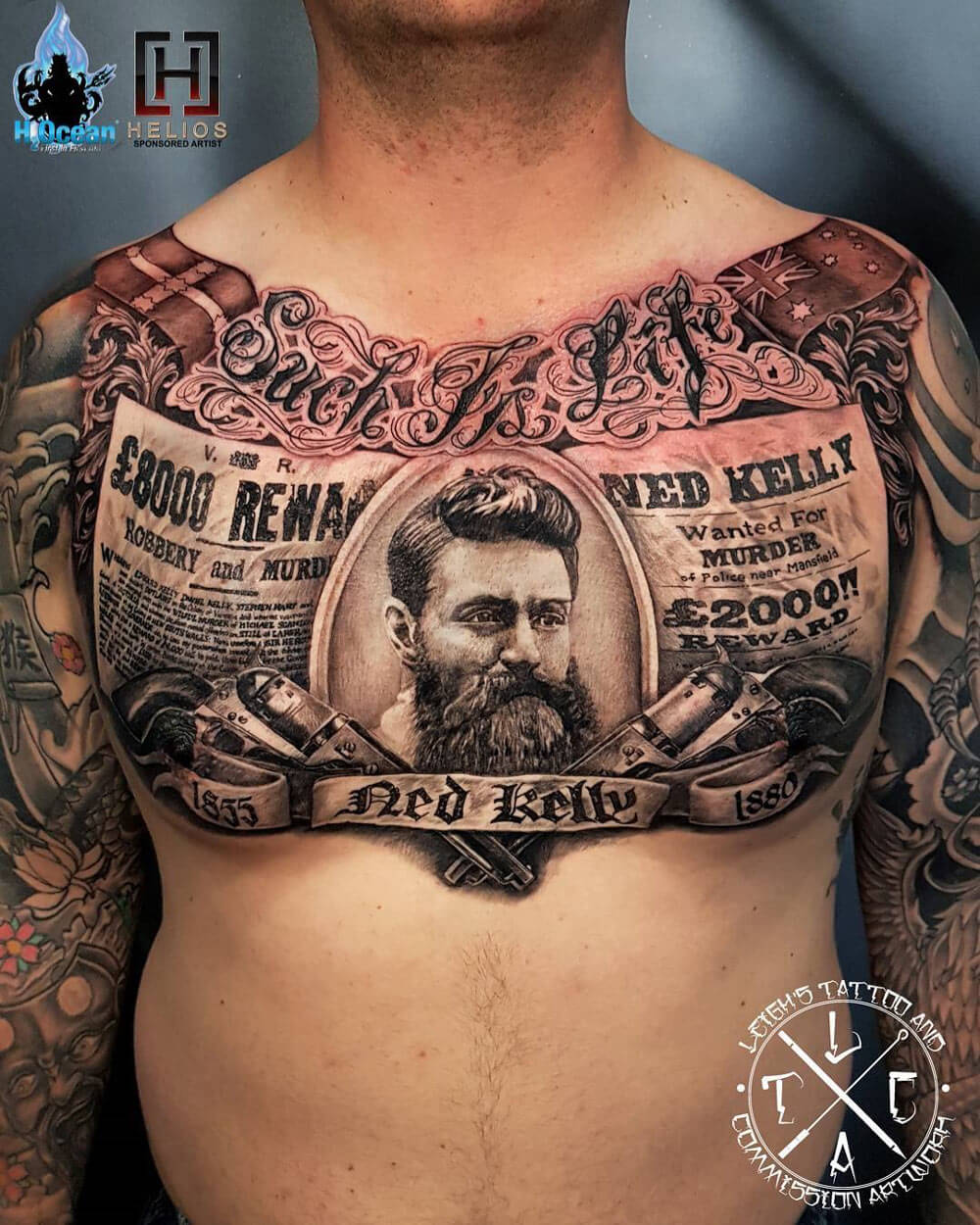 aea0329c2 To help you get those creative juices flowing, we dug around and compiled  some of the best chest tattoos for men. Hopefully, these tattoos will light  up ...