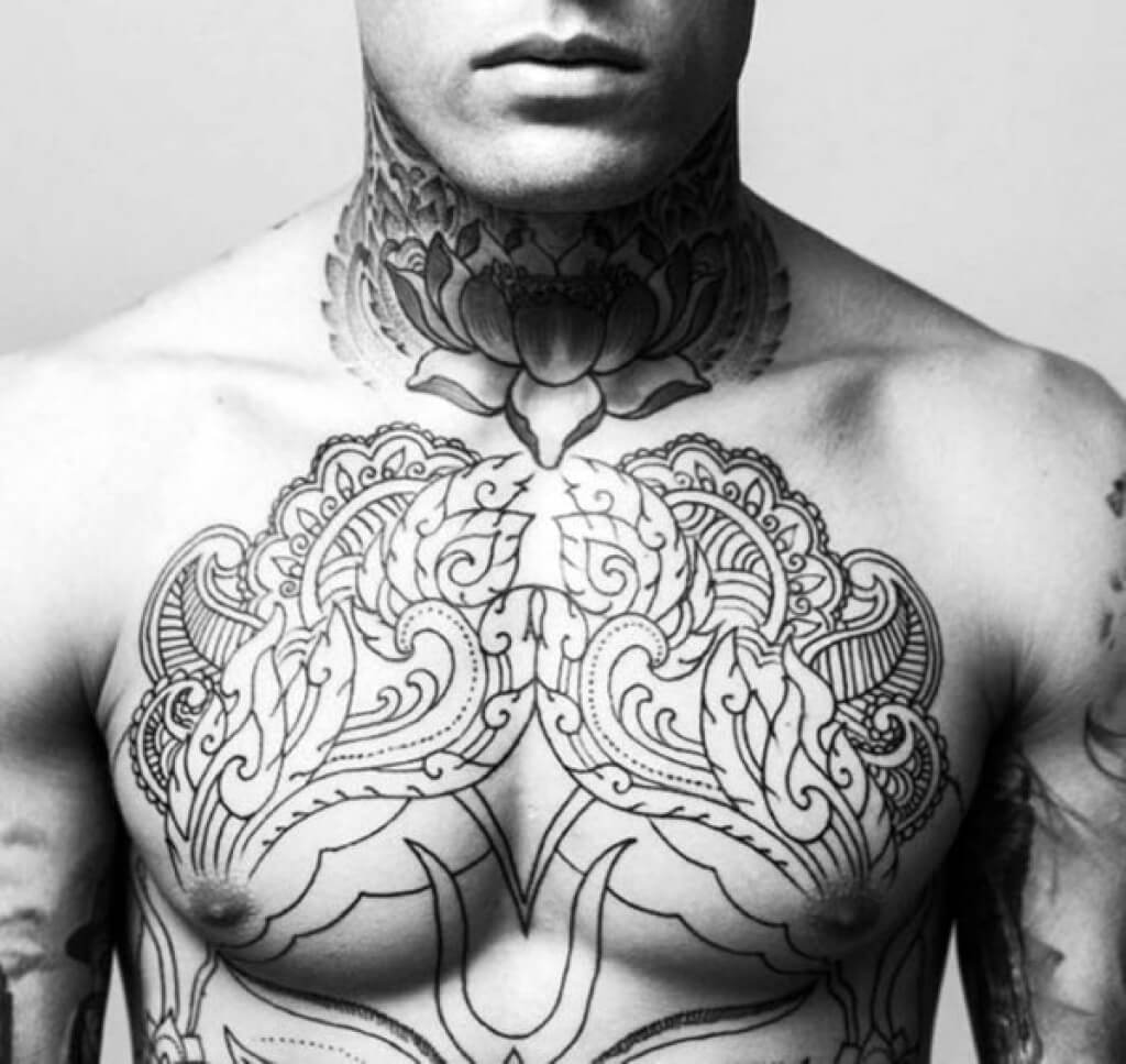 125 Top Neck Tattoo Designs This Year: The 100 Best Chest Tattoos For Men