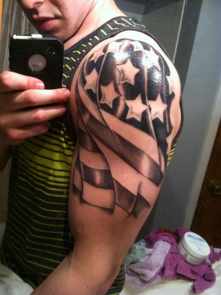 awesome american flag tattoo for men