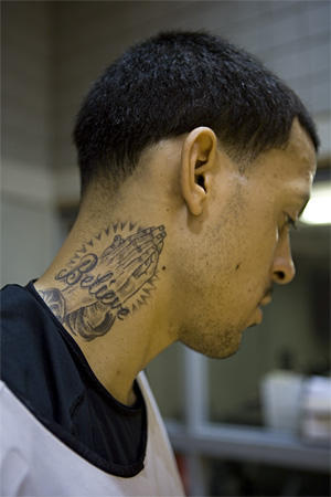 believe neck tattoo for men