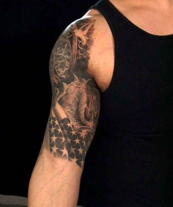 c7fb4afb3 ... half sleeve american flag tattoo for men full ...