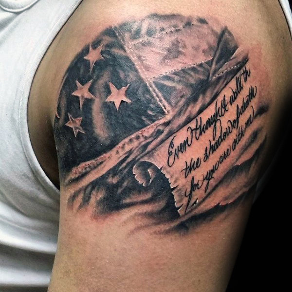 scripture american flag tattoo for men