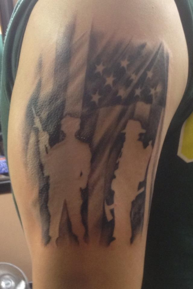59e471c5f40df ... soldiers and rescuers american flag tattoo for men ...