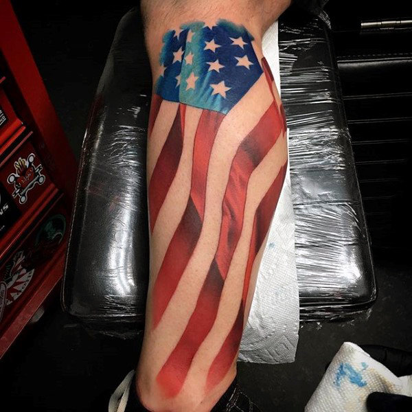 stunning american flag tattoo for men