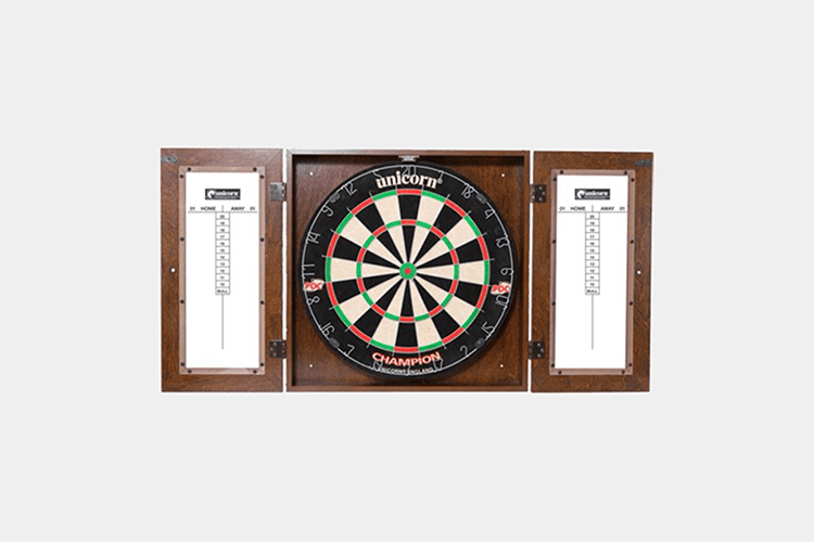 unicorn champion dart board for mens bachelor pad