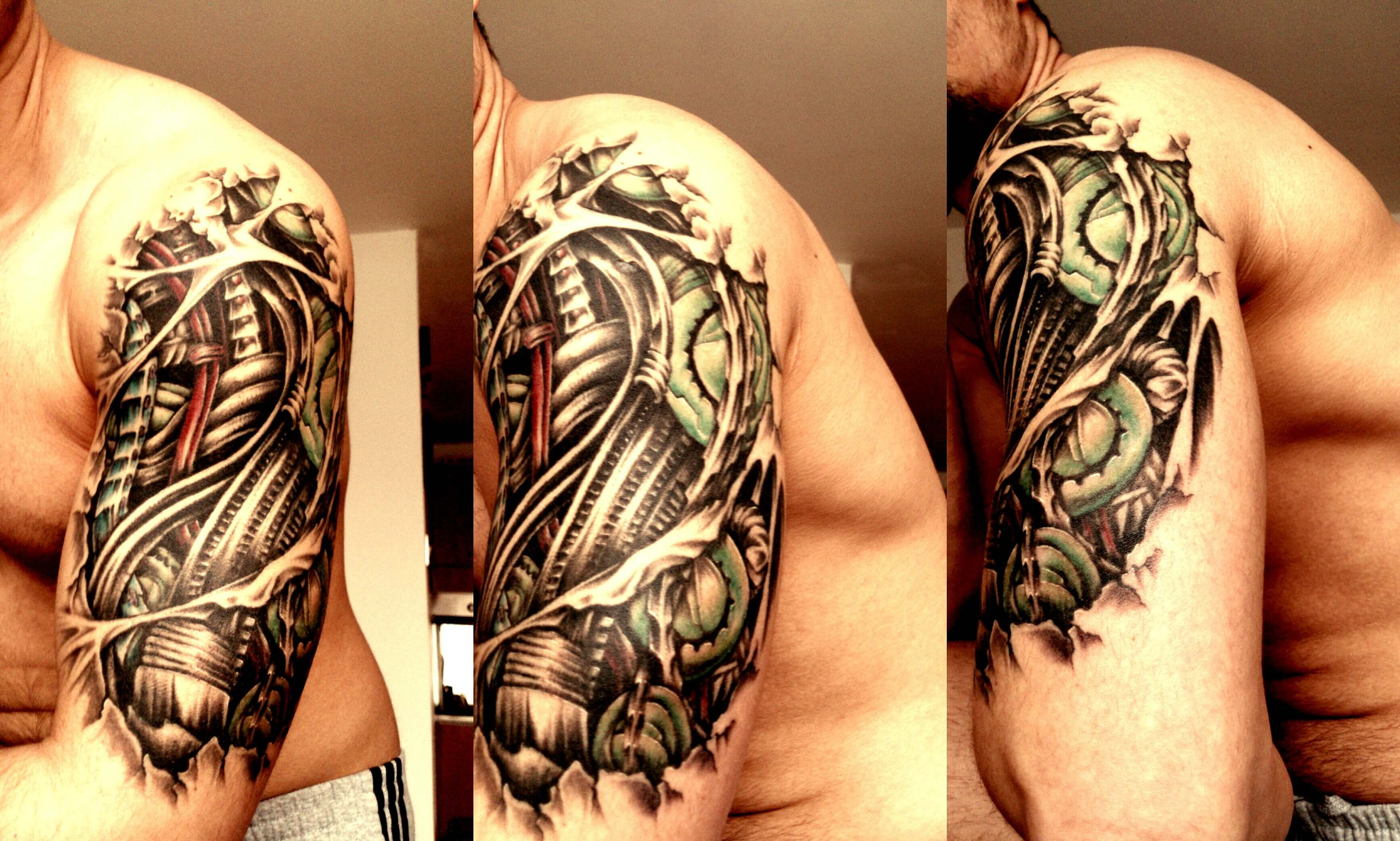 c663feccc ... Amazing_dark_biomechanical_tattoo_on_arm Robot-Machine-Arm-Sleeve-Flash- Tattoo 3D-Biomechanical-Tattoos-For-Men-4 ...