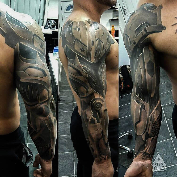 28692a24d ... no doubt the best format for a mechanical tattoo. If you want more  colors, you can work with the tattoo artist in coming up with a more  colorful design.