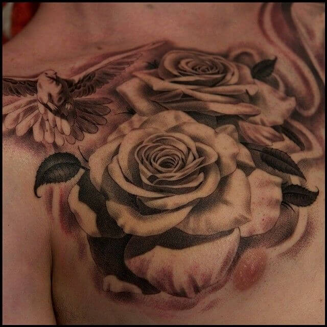 Top 55 Best Rose Tattoos For Men
