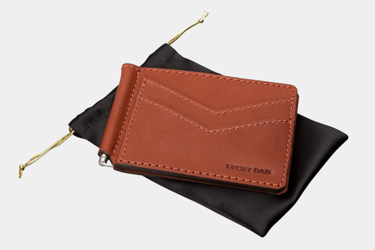 Leather Front Pocket Money Clip BY Lucky Oak
