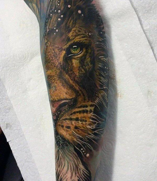 18 Amazing Leo Sleeve Tattoos: The King: 105 Best Lion Tattoos For Men