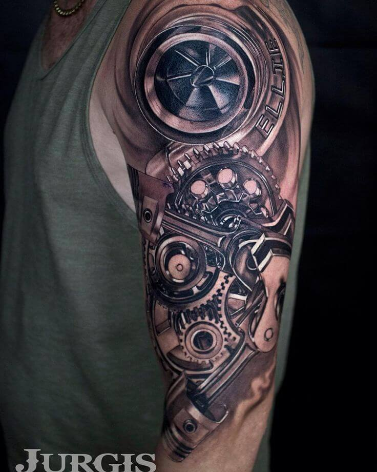 Top 80 Best BioMechanical Tattoos For Men