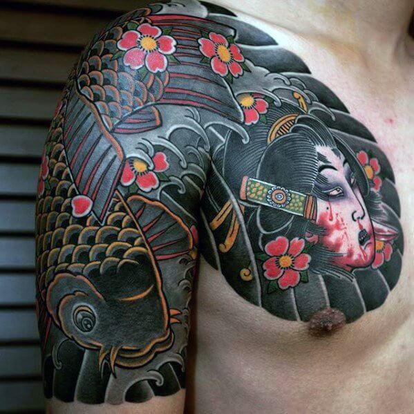 050e2f5794b9a ... creative-japanese-male-upper-chest-tattoos  Custom_Japanese_backpiece_tattoo_by_Greg_James sleeve ...
