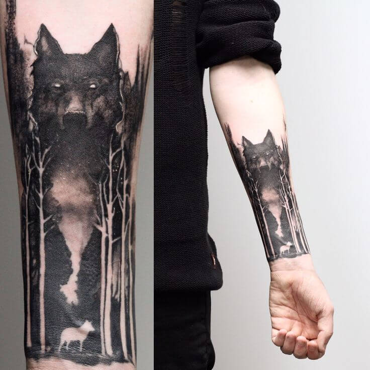 Wolf Wrist Tattoo Designs Ideas And Meaning: The 85 Best Wolf Tattoos For Men