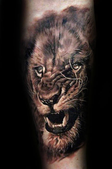 e0356b45c The King: 105 Best Lion Tattoos for Men | Improb