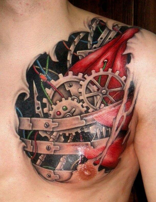 Top 80 Best Biomechanical Tattoos For Men Improb