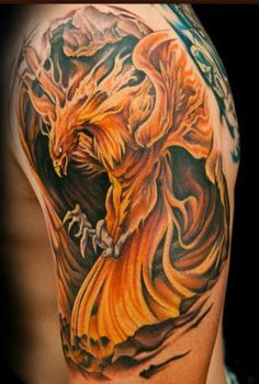 95e35776e 109 Best Phoenix Tattoos for Men | Rise From The Flames | Improb