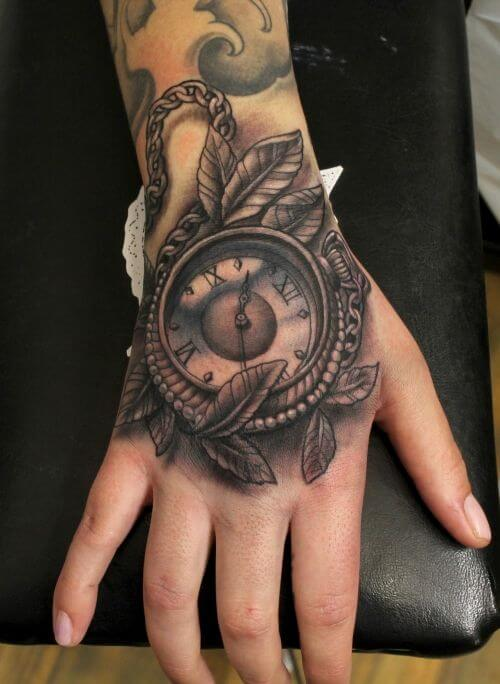 tattoo hand pocket grey tattoos leaves right unique ink 3d hands designs ion cool timepiece improb urgent illusion optical inn