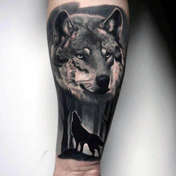 b6b608547 The 85 Best Wolf Tattoos for Men | Improb
