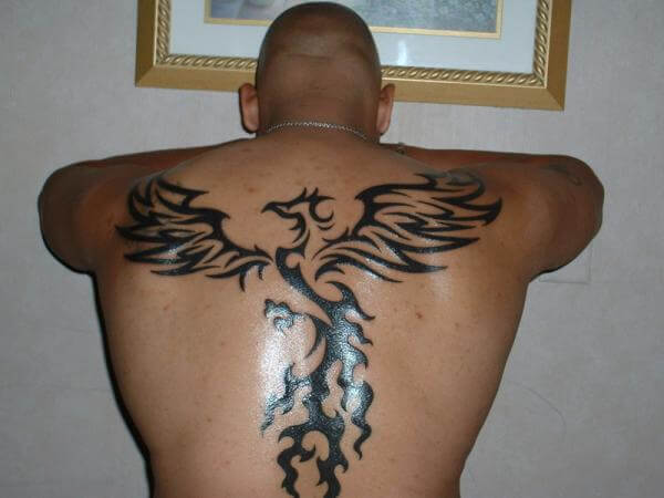tribal-phoenix-tattoo