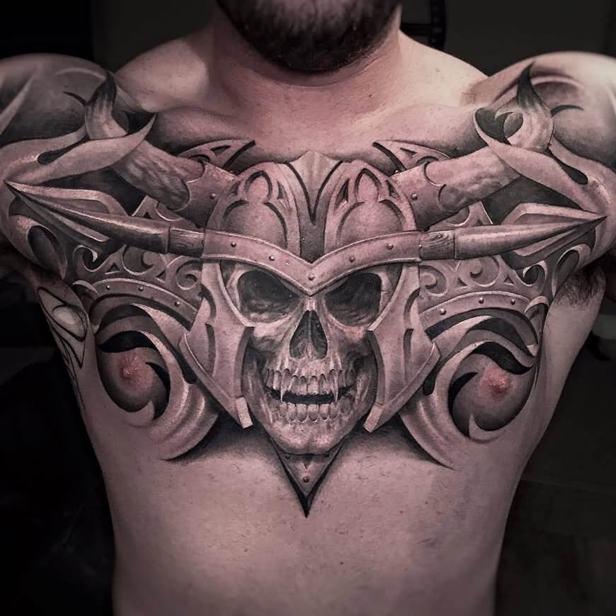 04e0bdcb1 ... 3D-Vampire-Skull-Tattoo-On-Man-Chest ...