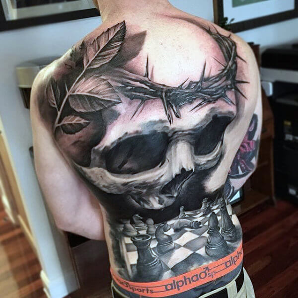 chess-pieces-and-skull-tattoo-mens-full-back