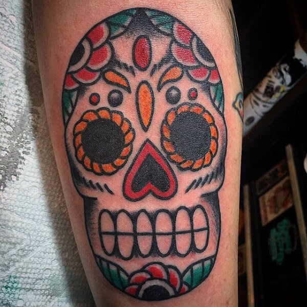 e1b5957a9 ... cool-mens-old-school-sugar-skull-tattoo-design ...