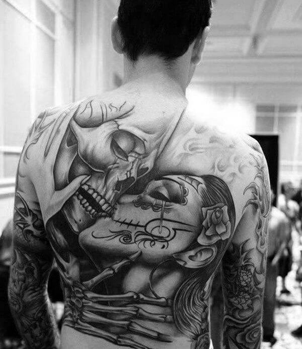4673d75ea The 110 Best Skull Tattoos for Men | Improb