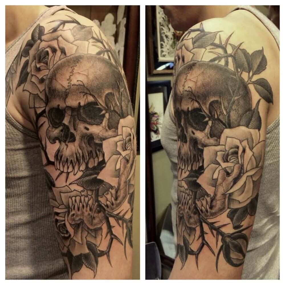 298600075 ... skull-butterfly-art-rose-men-tattoo skull-tattoos- ...