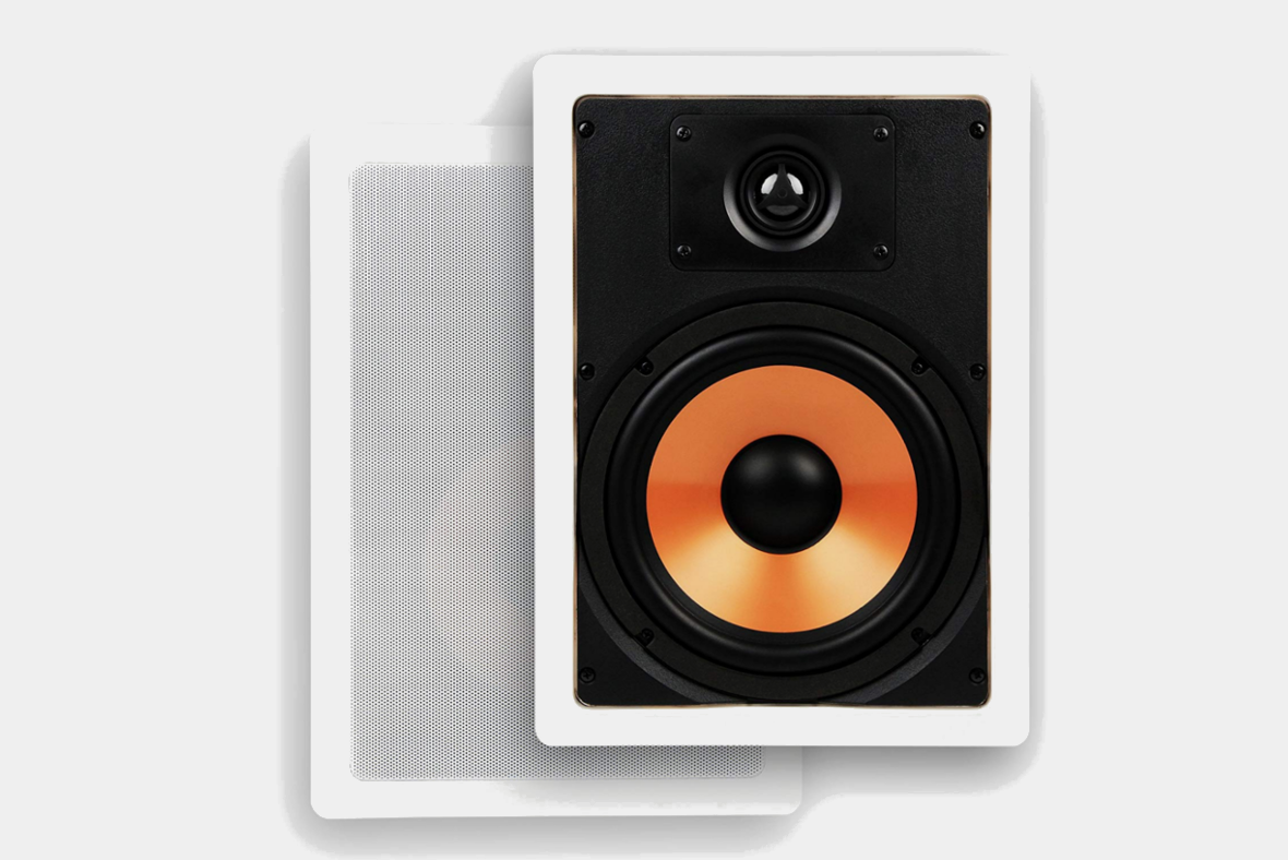 Micca M-8S 8 Inch 2-Way In-Wall Speaker with Pivoting 1″ Silk Dome Tweeter