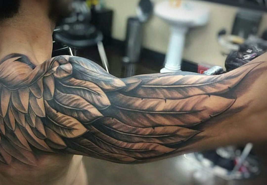 The 109 Best Wing Tattoos for Men | Improb