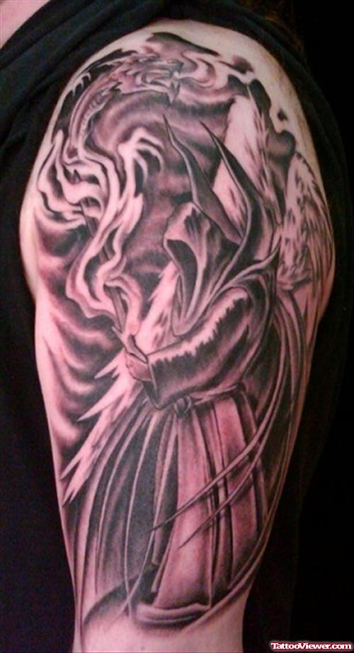 ether and grim reaper tattoo for men