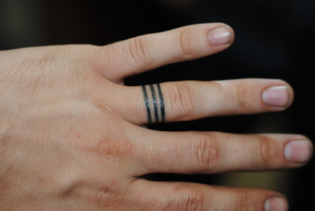Wedding Band Tattoos For Men: The 100 Best Finger Tattoos For Men
