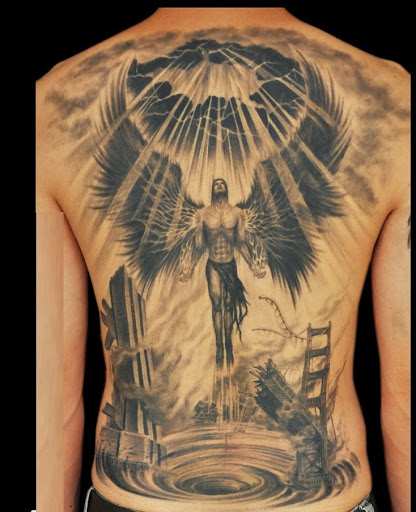 best angel design tattoo for men