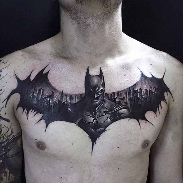 best batman design tattoo for men