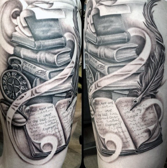 best books design tattoo for men