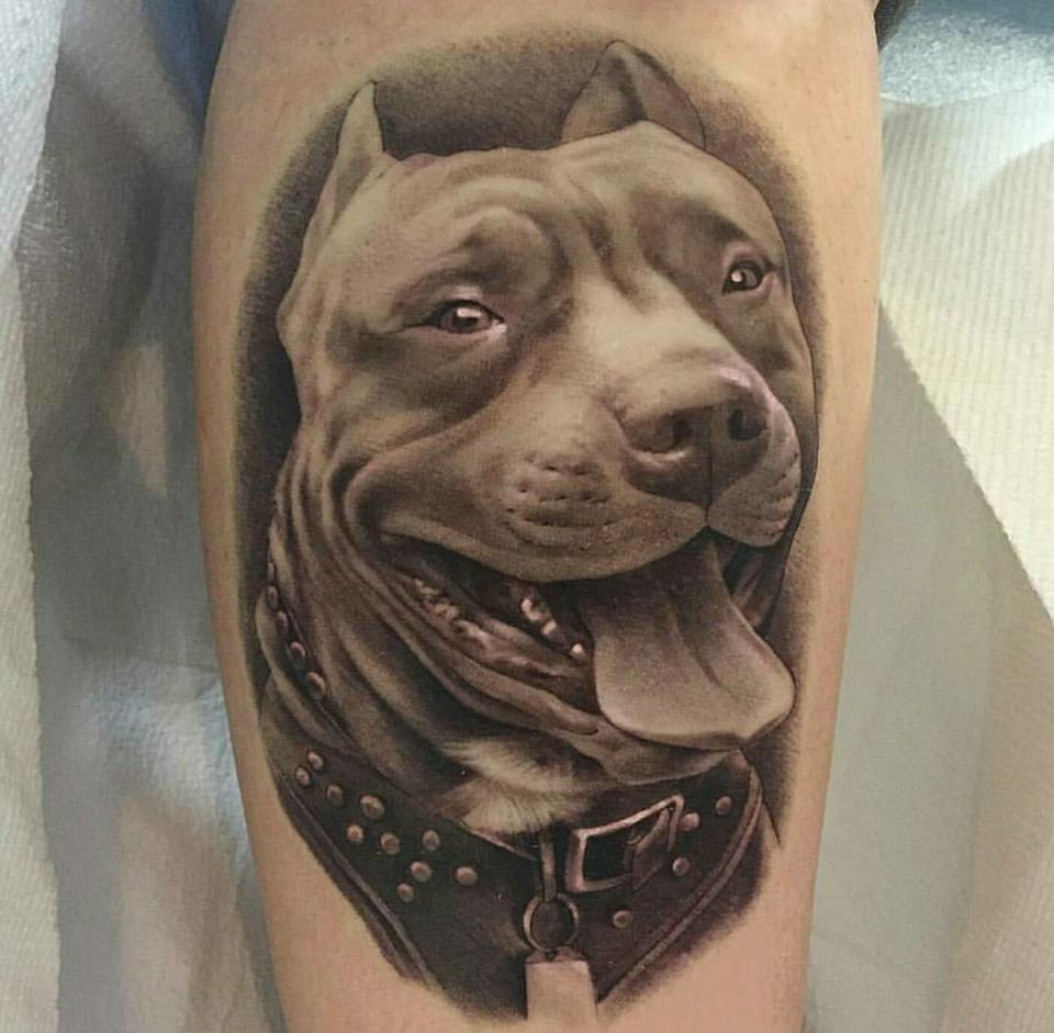 best dog design tattoo for men