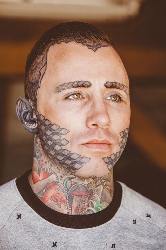 best facial hair design tattoo for men