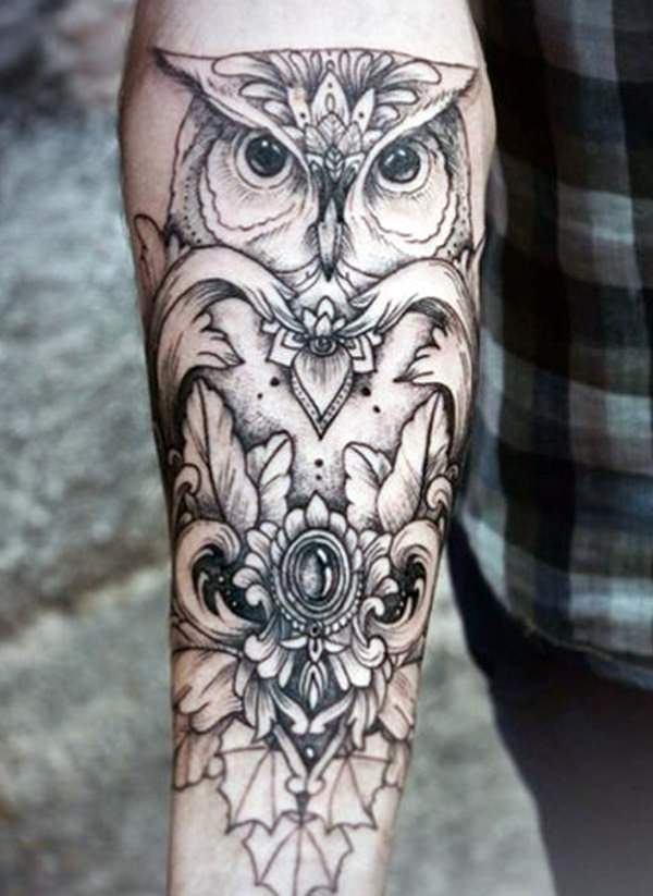 best owl design tattoo for men