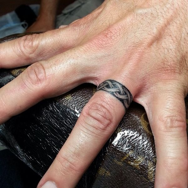 best wedding ring design tattoo for men