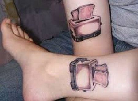 toaster matching couple tattoo