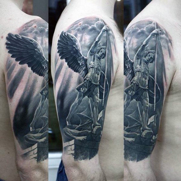 a22103f50 The 95 Best Guardian Angel Tattoos for Men | Improb