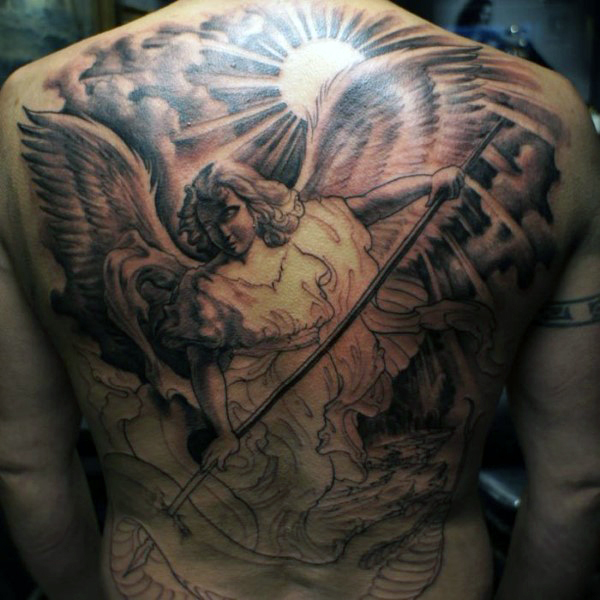 b02a7f835 The 95 Best Guardian Angel Tattoos for Men | Improb