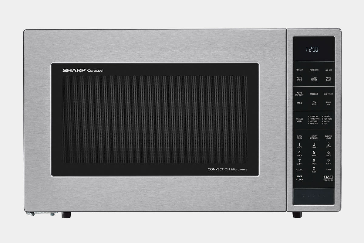 SHARP STAINLESS STEEL CAROUSEL CONVECTION + MICROWAVE