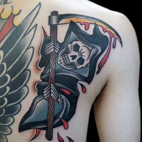 Hooded Skull Tattoo