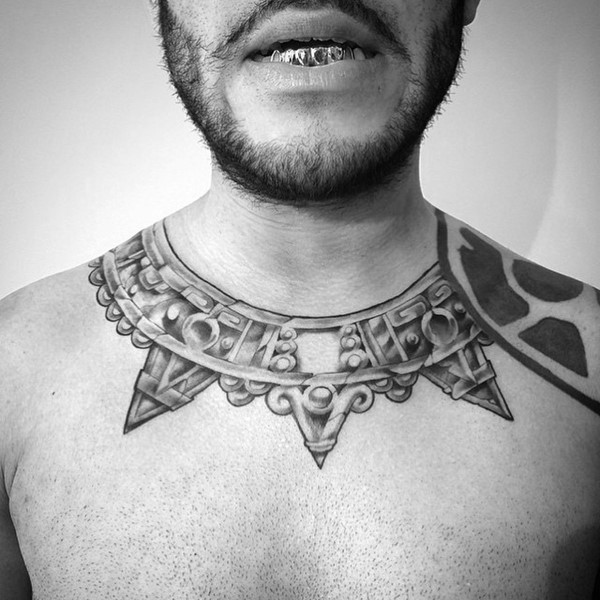 Aztec Necklace Tattoo