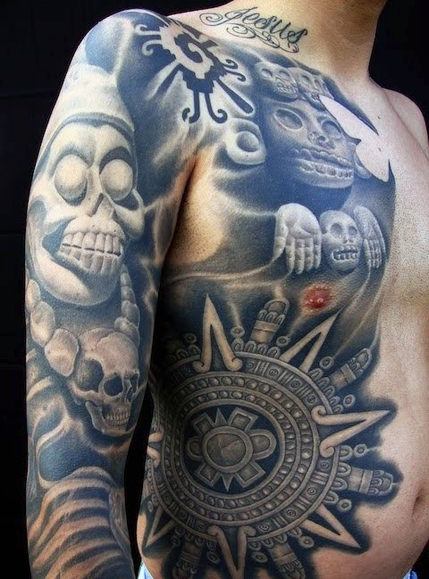 Aztec Sun Tattoo for Men