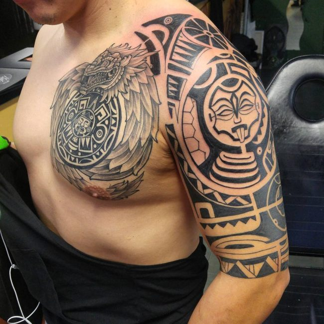 Aztec Symbol Shoulder and Chest Piece