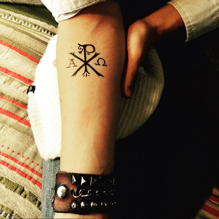 Chi Rho Small Forearm Tattoo