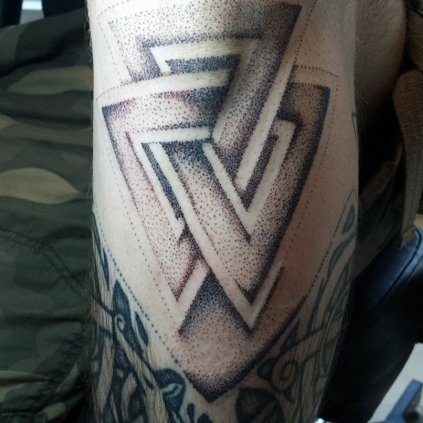 Connected Triangles Arm Tattoo